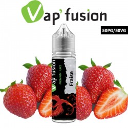 E liquide Vapfusion 50 ml - Fraise - Prêt à booster