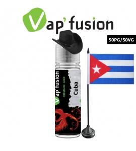 E liquide Vapfusion 50 ml - Cuba - Prêt à booster