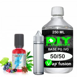Pack diy Eliquide Red astaire arôme concentré 30 ML + Base PG/VG 250ML - 0 Mg - Vapfusion